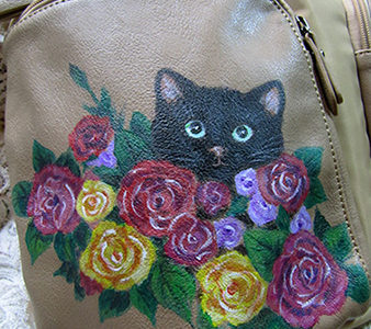 黒猫親子のリュック♪