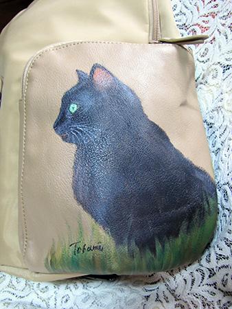 猫手描きリュック