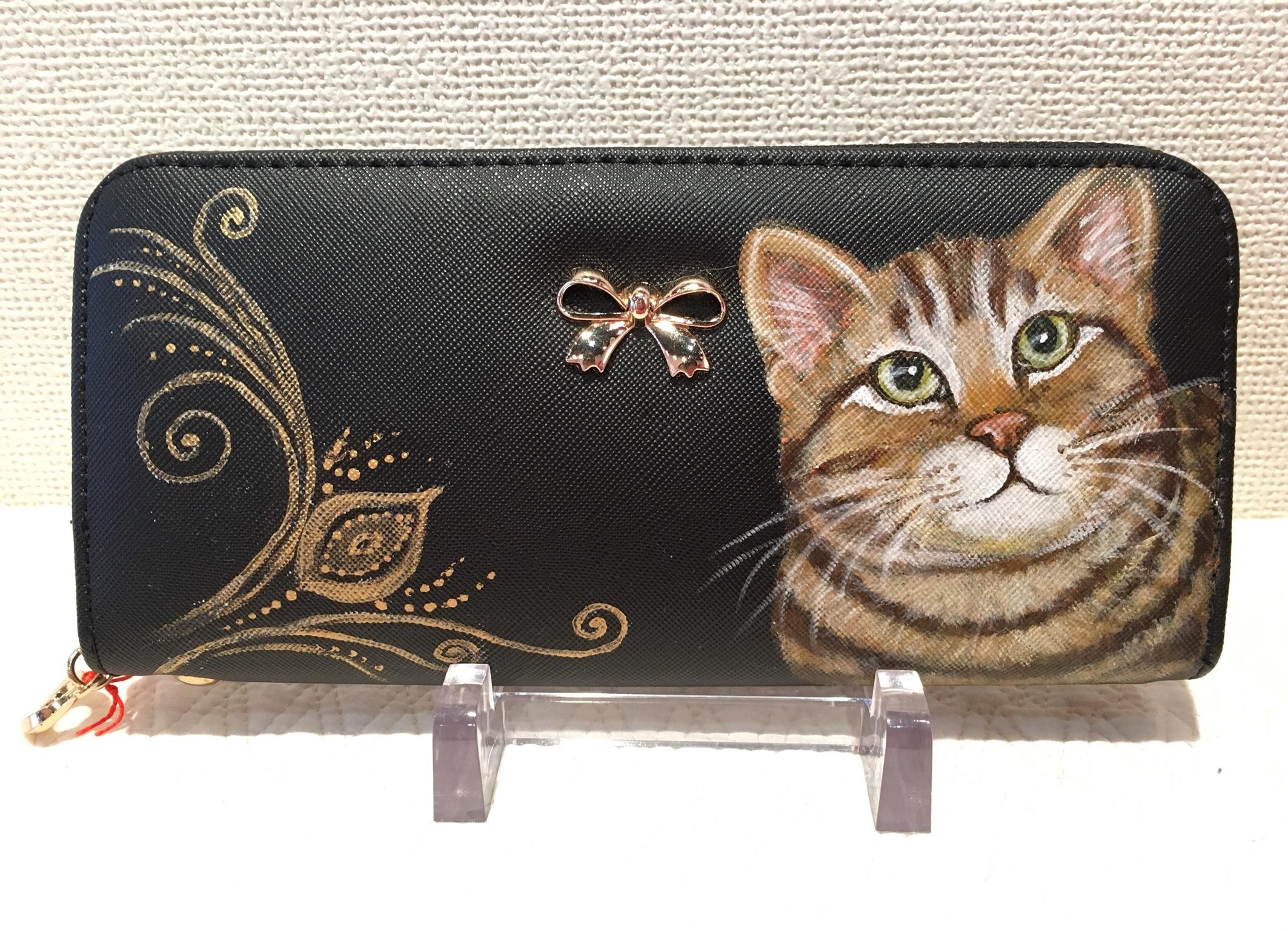 手描き猫財布